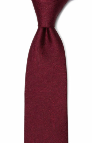 ORNATE Dark red corbata