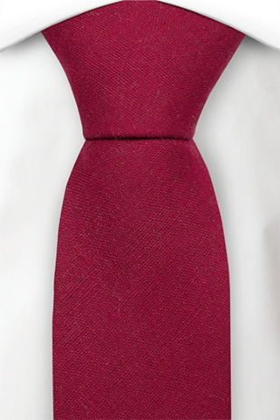 WISTFUL Dark red corbata