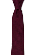 GRENADINE Burgundy red corbata delgada